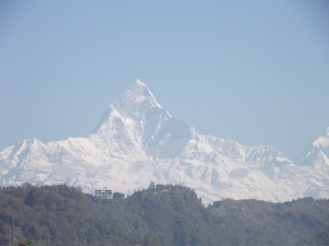 Fishtail mountain in Pokhara
