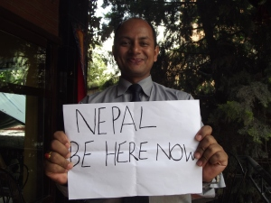 Ramesh, world's best F&B manager, from Hotel Manang, Kathmandu