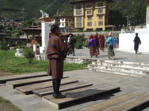 Morning prostrations at the chorten