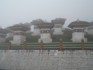 Some of the chortens at the Dochu La pass