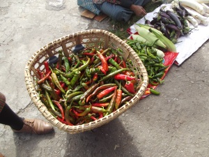 Delicious fresh chillies