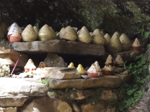 Mini-stupas left by pilgrims