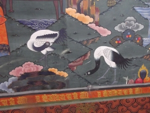 Mural in the dzong