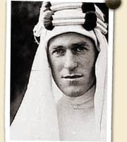 Lawrence in his Arab outfit (image from Google)